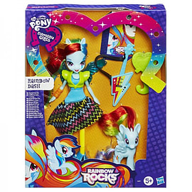 Equestria Girls Doll And Pony Set - Rainbow Dash Figurines and Sets