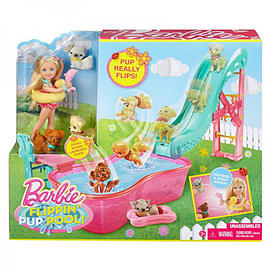 Barbie Chelsea Flipping Pup Pool Set Figurines and Sets