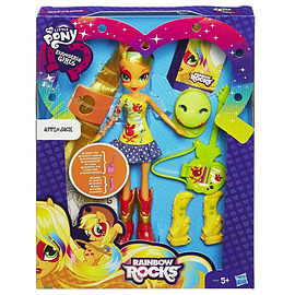 Equestria Girls Rainbow Rocks - Applejack And Guitar Figurines and Sets