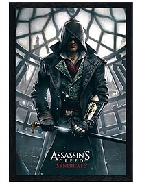 Assassins Creed Black Wooden Framed Syndicate Big Ben Maxi Poster 61x91.5cm Posters