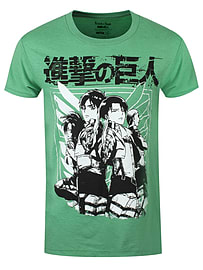 Attack On Titan Scout Group Heather Green Men's T-shirt: Large (mens 40- 42) Clothing