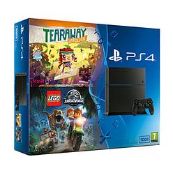 PlayStation 4 500GB With Tearaway Unfolded & LEGO Jurassic World PlayStation 4