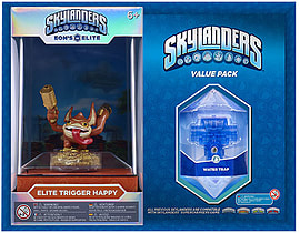 Elite Trigger Happy and Brawl & Chain Trap Skylanders Gift Pack Toys and Gadgets