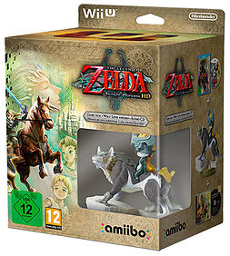 Legend of Zelda Twilight Princess HD with Wolf Link amiibo Limited Edition Nintendo Wii U Cover Art