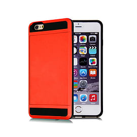 Frostycow Hard Card Shock Case Cover for Apple iPhone 6 PLUS/6S PLUS & FREE SCREEN Protector Red Mobile phones