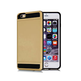 Frostycow Hard Card Shock Case Cover for Apple iPhone 6 PLUS/6S PLUS & FREE SCREEN Protector Gold Mobile phones