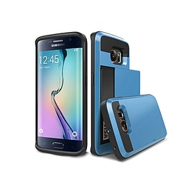 Frostycow Hard Card Shock Case Cover for Samsung Galaxy S6 FREE SCREEN Protector Blue Mobile phones