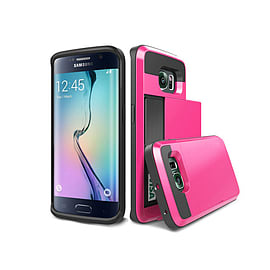 Frostycow Hard Card Shock Case Cover for Samsung Galaxy S6 FREE SCREEN Protector Pink Mobile phones