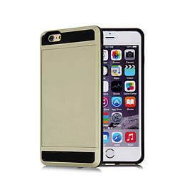 Frostycow Hard Card Shock Case Cover for Apple iPhone 6/6S FREE SCREEN Protector Silver Mobile phones