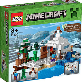 Lego Minecraft The Snow Hideout - 21120 Blocks and Bricks