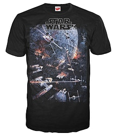 Star Wars Universe Official Mens T-Shirt (Black) (Medium) Clothing