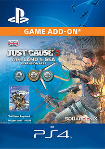 Just Cause 3 - Land, Sea, Air Expansion Pass PlayStation 4 Cover Art
