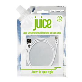 Juice Apple Lightning Cable - Colour: White Mobile phones