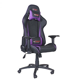 GT Omega PRO Racing Office Chair Black Next Purple Leather Multi Format and Universal