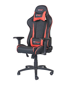 GT Omega PRO Racing Office Chair Black Next Red Leather Multi Format and Universal