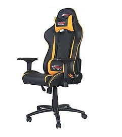 GT Omega PRO Racing Office Chair Black Next Yellow Leather Multi Format and Universal