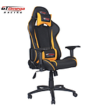 GT Omega PRO Racing Office Chair Black Next Yellow Leather screen shot 1