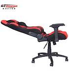 GT Omega PRO Racing Office Chair Red and Black Fabric screen shot 3