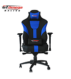 GT Omega MASTER XL Racing Office Chair Black and Blue Leather screen shot 4