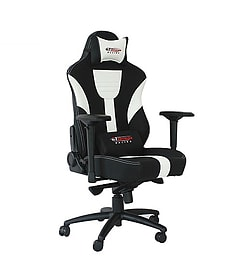 GT Omega MASTER XL Racing Office Chair Black and White Leather Multi Format and Universal
