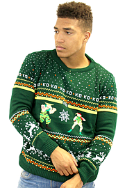 Official Street Fighter Guile Vs. Cammy Christmas Jumper 3XL Clothing