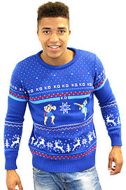 Official Street Fighter Sagat Vs. Chun Li Christmas Jumper Medium Clothing