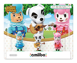 Amiibo Animal Crossing 3 Pack Reese/K.K. Slider/Cyrus Amiibo