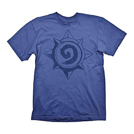 Hearthstone Heroes Of Warcraft Men's Vintage Rose Logo T-shirt, Small, Blue Clothing
