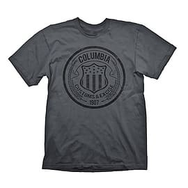 Bioshock Columbia Customs and Excise 1907 Men's T-shirt, Large, Dark Grey Clothing