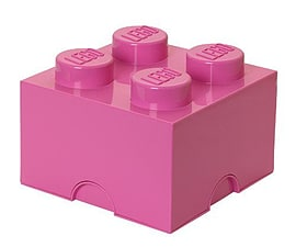 LEGO Storage Brick 4 Pink Blocks and Bricks