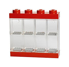 LEGO Minifigure Display Case Small (8 Figure) Red Blocks and Bricks