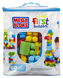 Mega Bloks Classic Buildable Bag (60 Pieces) Blocks and Bricks