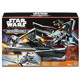 Star Wars The Force Awakens Micro Machines First Order Star Destroyer Set Figurines and Sets