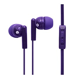 Groov-e Kandy Plus Earphones with Volume Control - Purple Multi Format and Universal