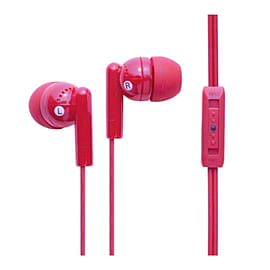 Groov-e Kandy Plus Earphones with Volume Control - Pink Multi Format and Universal