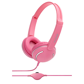 Groov-e Streetz Stereo Headphones with Volume Control - Pink Multi Format and Universal