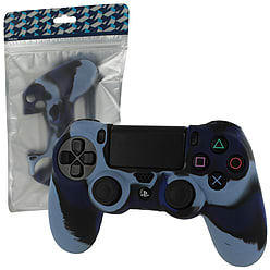 ZedLabz soft silicone skin grip protective cover for Sony PS4 controller - Dark blue camo PS4