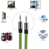 VEO | 3.5 MM Stereo Jack to Jack Cable, Flat Anti Tangle Auxiliary Cable for 3.5 aux input - Green screen shot 4