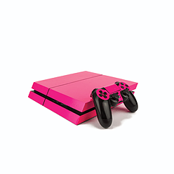 PS4 PlayStation 4 Fluorescent Vinyl Wrap: Bright Pink PS4