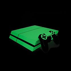 PS4 PlayStation 4 Photoluminescent Vinyl Wrap: Extreme Glow in the Dark PS4