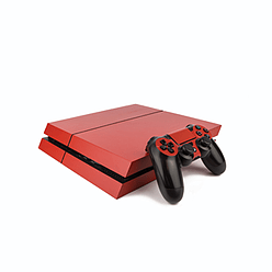 PS4 PlayStation 4 Colourful Vinyl Wrap: Matte Red PS4