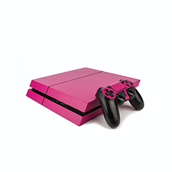 PS4 PlayStation 4 Colourful Vinyl Wrap: Matte Rose PS4