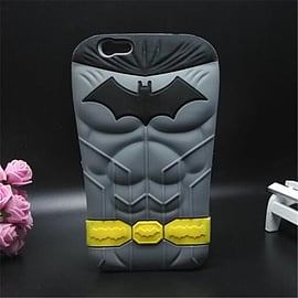 DIA BATMAN MUSCLES SILICONE CASE COVER FOR IPHONE 6 (A1 GREY) Mobile phones