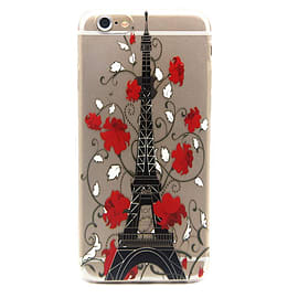 DIA CLEAR TPU GEL EIFFEL TOWER CASE COVER FOR IPHONE 5 (A5 CLEAR) Mobile phones