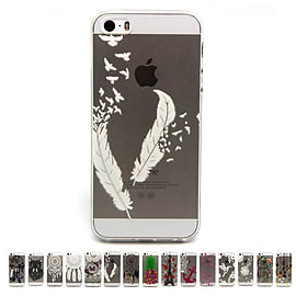 DIA CLEAR TPU GEL FEATHER CASE COVER FOR IPHONE 5 (A6 CLEAR) Mobile phones