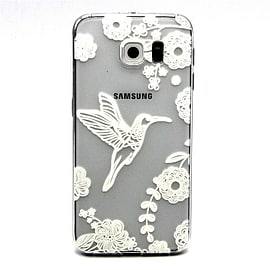 DIA CLEAR TPU GEL BIRD CASE COVER FOR SAMSUNG GALAXY S6 EDGE WILL NOT FIT STANDARD S6 (C15 CLEAR) Mobile phones