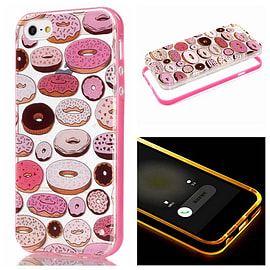 DIA CLEAR DOUGHNUTS TPU CASE WITH LIGHT PINK BUMPER FOR IPHONE 6 (D5 CLEAR/LIGHT PINK) Mobile phones