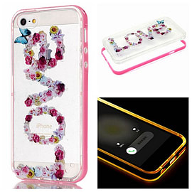 DIA CLEAR LOVE TPU CASE WITH LIGHT PINK BUMPER FOR IPHONE 6 (E1 CLEAR/LIGHT PINK) Mobile phones
