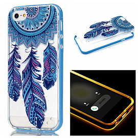 DIA CLEAR DREAM CATCHER TPU CASE WITH LIGHT BLUE BUMPER FOR IPHONE 6+ (E10 CLEAR/LIGHT BLUE) Mobile phones