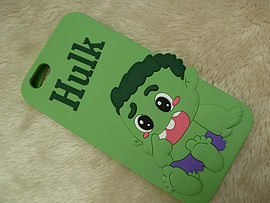 DIA CARTOON HULK SILICONE CASE COVER FOR IPHONE 5 (A3 GREEN) Mobile phones